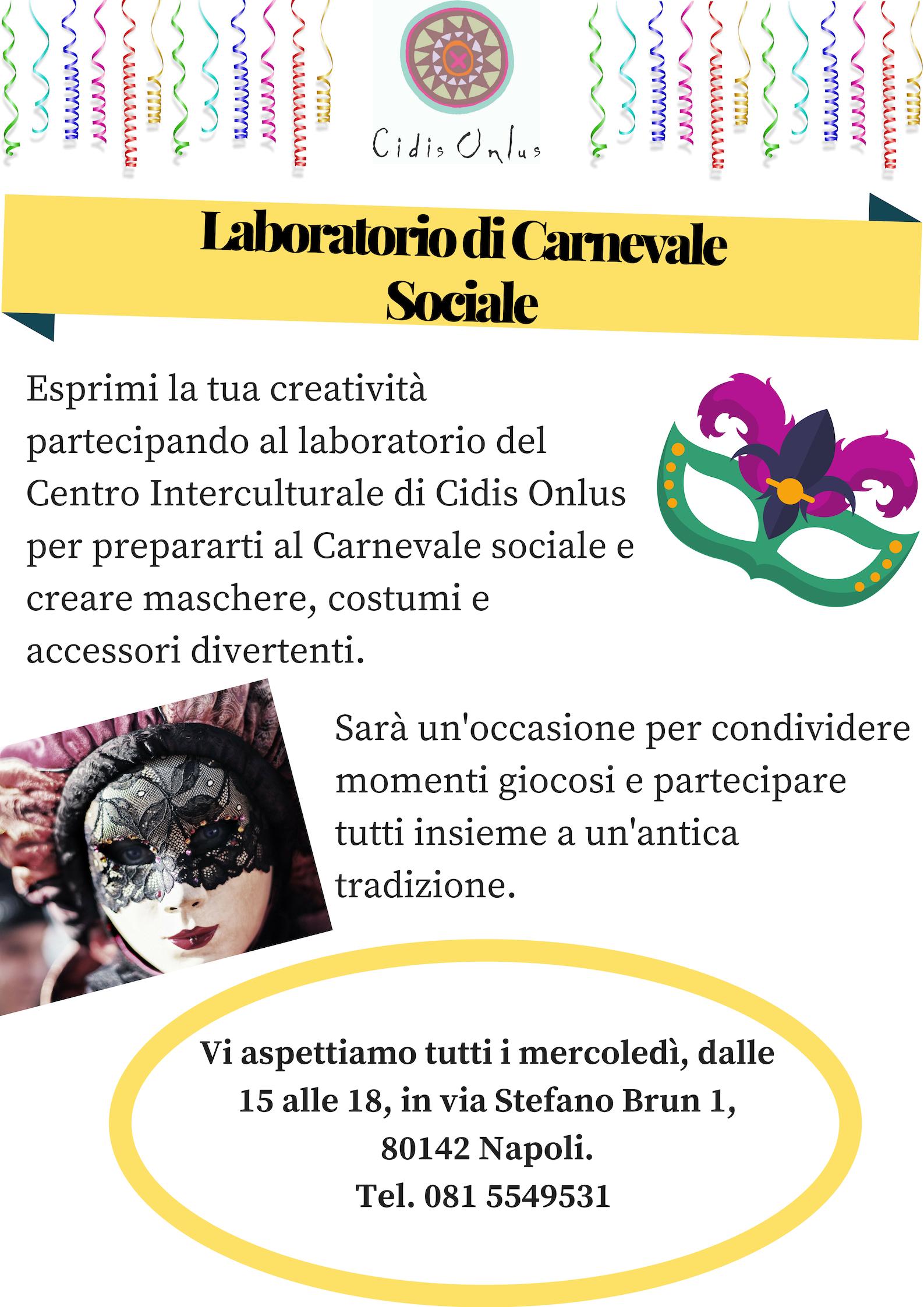 locandina laboratorio Carnevale Sociale